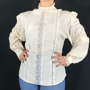 80s Does Victorian Blouse